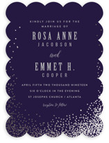 Bubbly Foil-Pressed Wedding Invitations