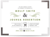 Campaign Style Foil-Pressed Wedding Invitations
