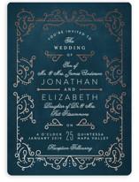 Dainty Deco Foil-Pressed Wedding Invitations
