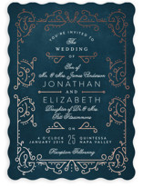 Dainty Deco Foil-Pressed Wedding Invitations