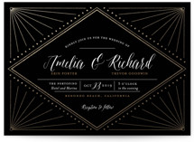 Diamond Burst Foil-Pressed Wedding Invitations
