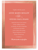 Evening Elegance Foil-Pressed Wedding Invitations