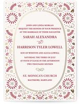 Flora Frame Foil-Pressed Wedding Invitations