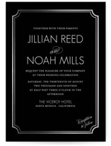 Modern Classic Foil-Pressed Wedding Invitations