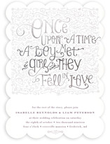 Once Upon Foil-Pressed Wedding Invitations