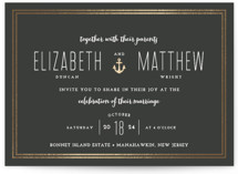 Down by the Sea Foil-Pressed Wedding Invitations