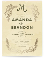 Chalkboard Foil-Pressed Wedding Invitations