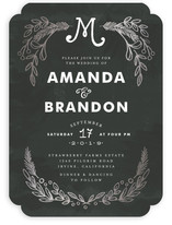 Chalkboard Foil-Pressed Wedding Invitations