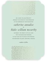 Delicate Dots Foil-Pressed Wedding Invitations