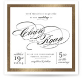 Edged Conservatory Foil-Pressed Wedding Invitations