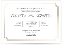 Classy Type Foil-Pressed Wedding Invitations