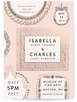 Framed Union Foil-Pressed Wedding Invitations