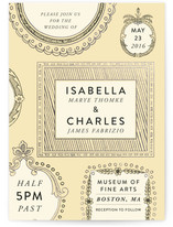 Framed Union Foil-Pressed Wedding Invitations