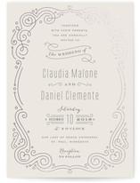 Art Deco Filigree Foil-Pressed Wedding Invitations