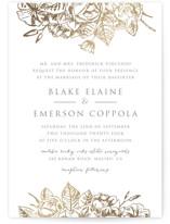 Gilded Wildflowers Foil-Pressed Wedding Invitations