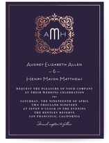 Eventide Foil-Pressed Wedding Invitations