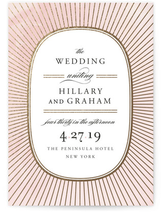 Plaza Foil-Pressed Wedding Invitations