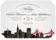 Big City - San Francisco Foil-Pressed Wedding Invitations