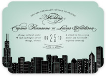 Big City - Chicago Foil-Pressed Wedding Invitations