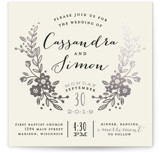Wildflower Crest Foil-Pressed Wedding Invitations