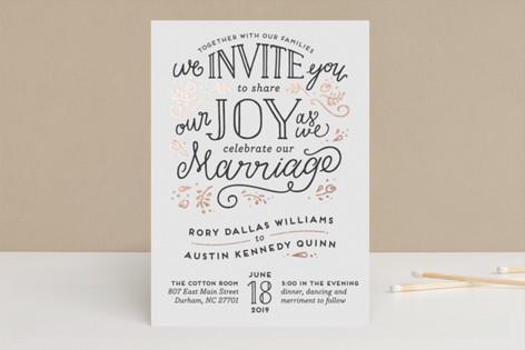 Joyful Foil-Pressed Wedding Invitations