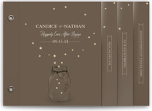 fireflies Wedding Invitation Minibook™ Cards