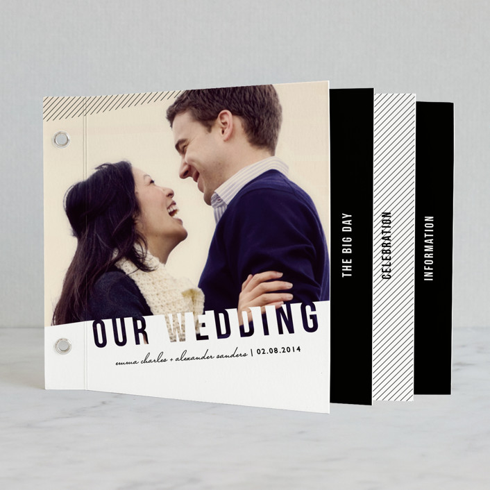 """Simply See Through"" - Modern Minibook Wedding Invitations in White by Lehan Veenker."