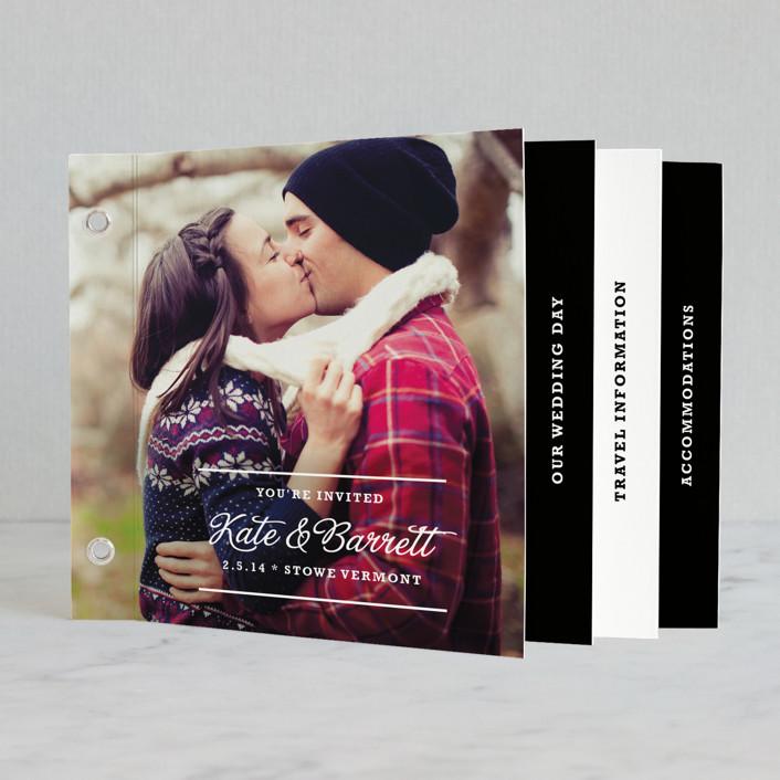 """The Official Guidebook"" - Simple, Simple Minibook Wedding Invitations in Black by toast & laurel."