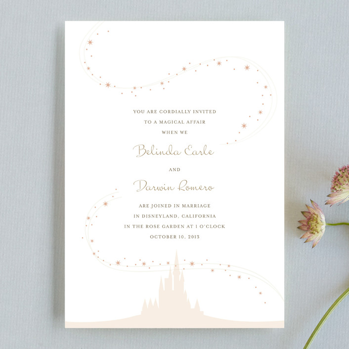 """""""Enchanted Stars"""" - Whimsical & Funny Wedding Invitations in Blossom by Jody Wody."""