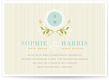 Sweet Stripe Wedding Invitations