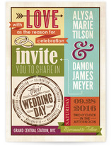 Eclectic Wedding Invitations