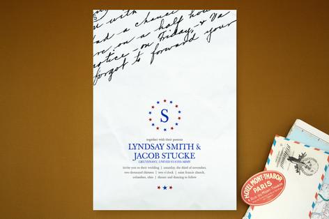 Letter Home Wedding Invitations