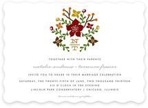 Floral Initials Wedding Invitations