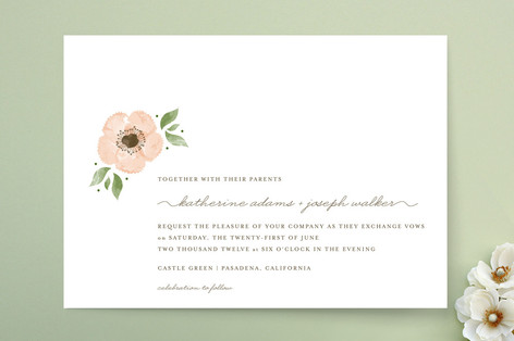 Painted Flower Wedding Invitations