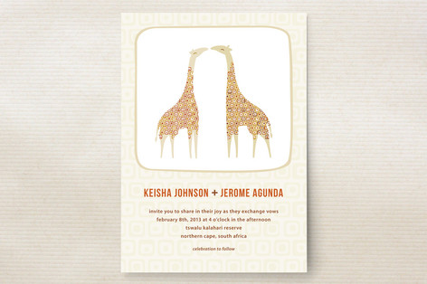 love in africa Wedding Invitations