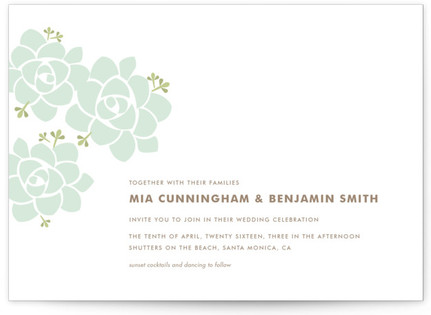 Sunday Succulent Wedding Invitations
