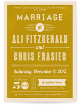 Vintage Retro Type Wedding Invitations