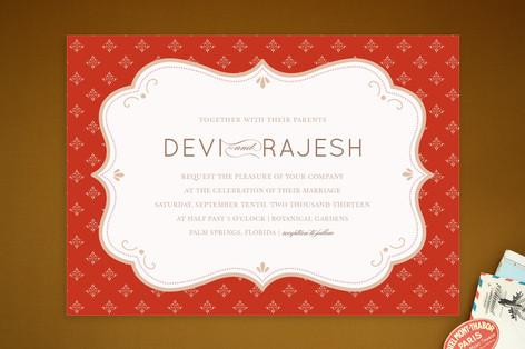 Indian Flair Wedding Invitations