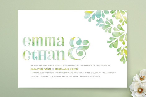 Spring Dew Wedding Invitations