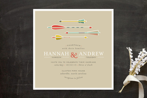 Target Practice Wedding Invitations