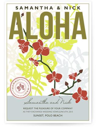 Aloha Nui Loa Wedding Invitations