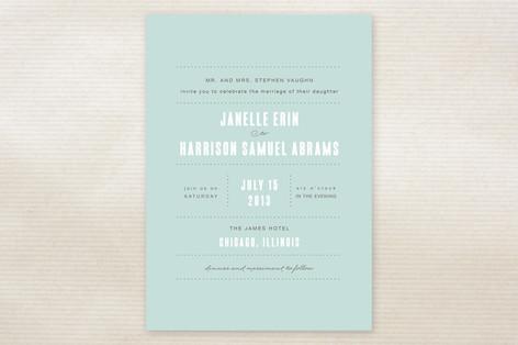 Sweet Chic Wedding Invitations