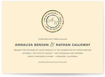 Beloved Monogram Wedding Invitations
