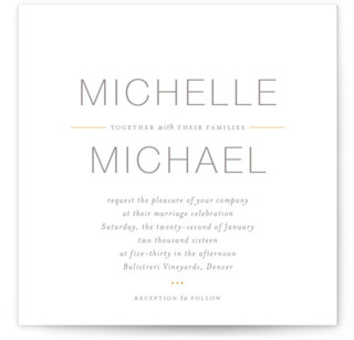 Baseline Wedding Invitations