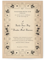 Bookworm Society Wedding Invitations