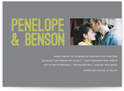 Something Bold Wedding Invitations