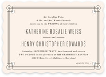 Handsome Border Wedding Invitations