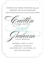 Cordial Flourish Wedding Invitations