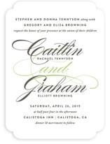 Cordial Flourish Wedding Invitations