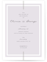 Three Classic Lines Wedding Invitations